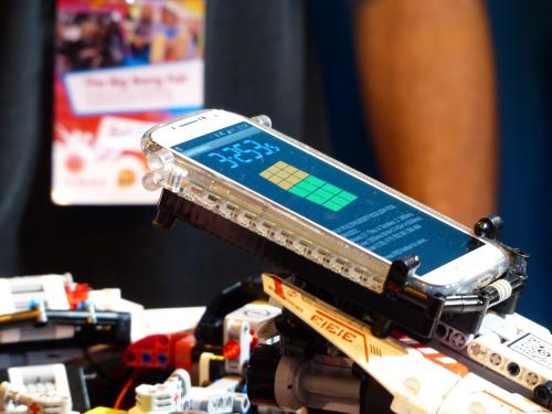 Robot solves Rubik's Cube in record time at Birmingham fair