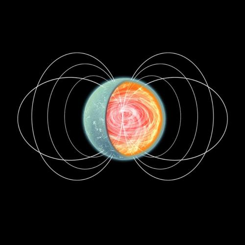 Satellite X-ray observations reveal neutron star with donut-shaped magnetic field and axial wobble