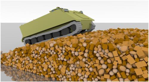 Simulating lightweight vehicles operating on discrete terrain