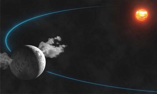Telescope spies water plumes on dwarf planet Ceres