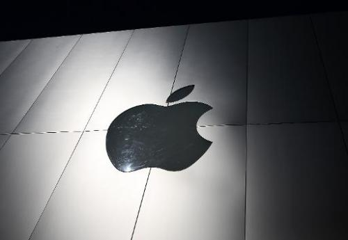 The Apple logo on the exterior of an Apple Store on April 23, 2013 in San Francisco, California