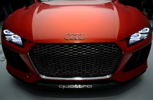 The Audi Sport Quattro Laserlight Concept car is displayed at the 2014 International CES in Las Vegas on January 7, 2014