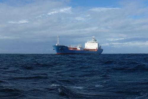 The Bahamian-flagged ship Tromso which ran aground near Ramena off Madagascar, pictured here on April 23, 2014