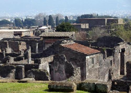 The House of Neptune seen in the ancient Roman city of Pompeii on March 18, 2014