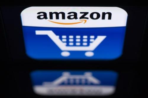 "The ""Amazon"" logo is seen on an iPad in Paris on November 13, 2012"