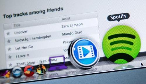 The Swedish music streaming service Spotify in Stockholm on March 7, 2013