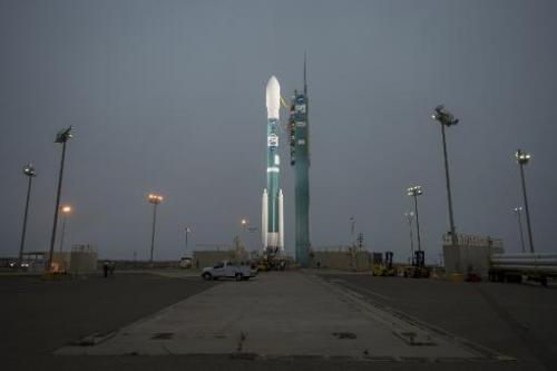 The United Launch Alliance Delta II rocket with the Orbiting Carbon Observatory-2 (OCO-2) satellite onboard, on June 30, 2014 at