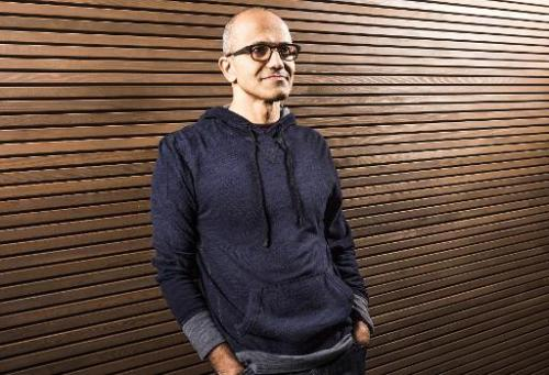 This image provided by Microsoft on February 4, 2014 shows the new CEO Satya Nadella