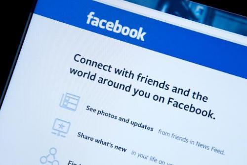 This January 30, 2014 photo taken in Washington,DC, shows Facebook