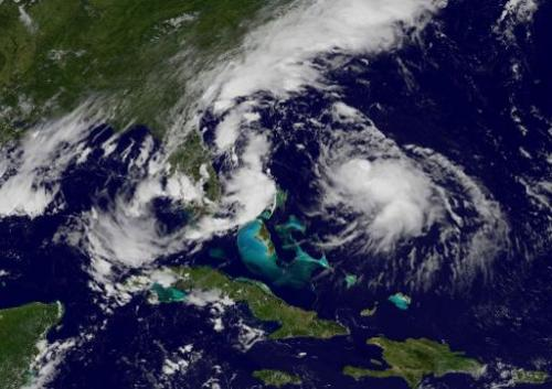 This National Oceanic and Atmospheric Administration (NOAA) satellite GOES East image taken August 4, 2014 shows Hurricane Berth