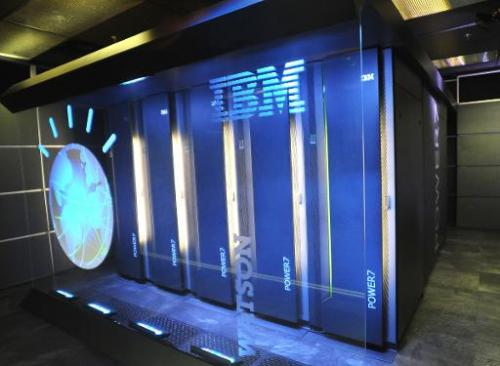 This undated file photo courtesy of IBM shows Watson, powered by IBM POWER7, a work-load optimized system that can answer questi