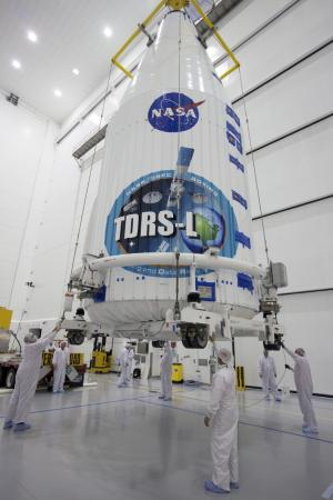 Tracking and Data Relay satellite prepared for launch