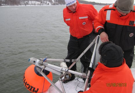 Under-ice observatory collects Great Lakes data