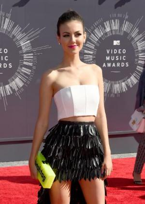 US actress Victoria Justice attends the 2014 MTV Video Music Awards at The Forum in Inglewood, California on August 24, 2014
