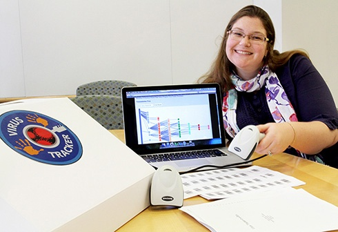 Virus Tracker in a Box allows students to follow the path of a virus in real time
