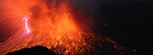 Volcanic lightning recreated in the lab