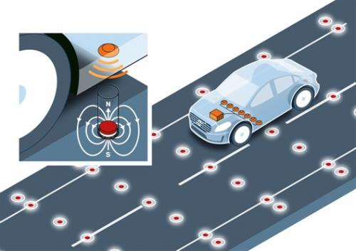 Volvo explores road-integrated magnets for autonomous cars