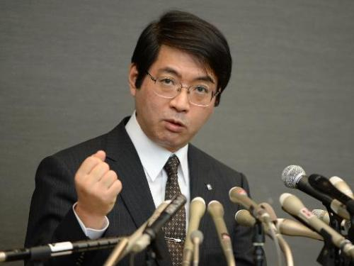 Yoshiki Sasai, supervisor of 30-year-old scientist Haruko Obokata of Riken Institute, answers questions during a press conferenc