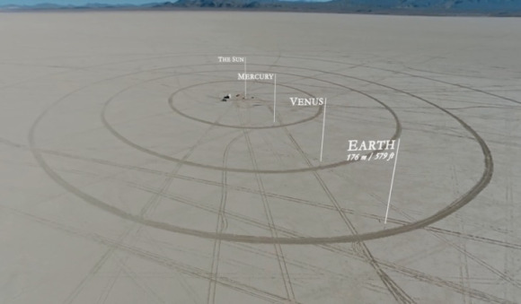 This is a scale model of the solar system like you've ...