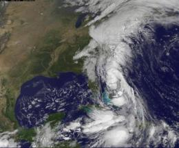 NASA satellites see Nicole become a remnant, another low soaking US East Coast