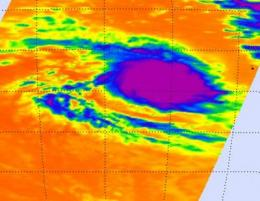 Tropical Storm Robyn nested away from land