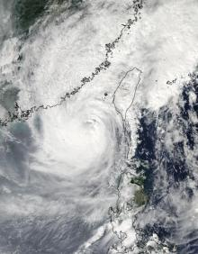 NASA satellites see Typhoon Megi poised for southeastern China landfall