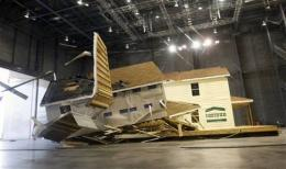 2 houses put through hurricane-force wind test
