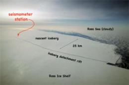 Antarctic ice shelf collapse possibly triggered by ocean waves, Scripps-led study finds