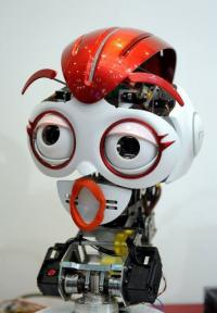A South Korean guide robot