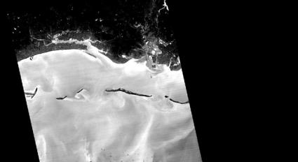 NASA Captures Night Infrared View of Gulf Oil Spill