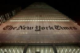 The New York Times is in the