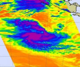 Tropical Storm Anggrek is tightly wrapped in NASA satellite imagery