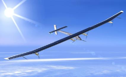 Huge solar powered plane takes to the air