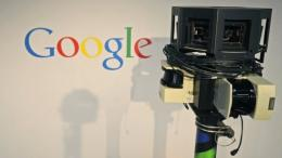 The camera of a Google street-view car.