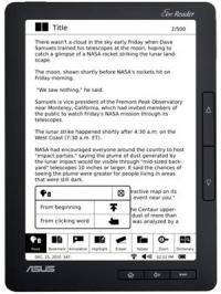 Introducing the World's First 9-inch Touch-Screen Ebook Reader