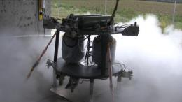 Propulsion system for robotic lander prototype tested by NASA