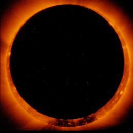 Annular solar eclipse observed by Hinode