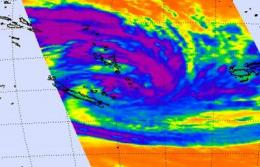 NASA satellites dissect Tropical Storm Vania's clouds and rainfall