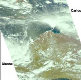 NASA sees tropical cyclone double-trouble for Australia