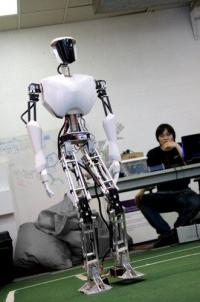 Virginia Tech students build CHARLI, a full-sized humanoid robot