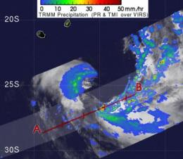 2 NASA satellites see TD11S going extra-tropical