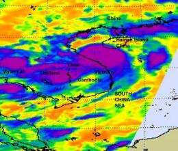 NASA satellite sees Tropical Storm Mindulle make landfall in Vietnam