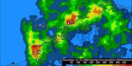 NASA's TRMM satellite measures Cyclone Laurence's heavy rainfall