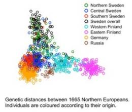 Northern, southern Swedes are genetically different