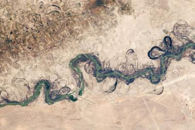 Syr Darya River Floodplain captured