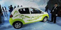 A Chinese-made Geely electric car