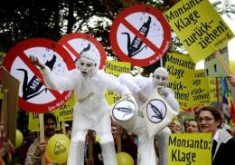 Activists protest against US biotech giant Monsanto in Germany in 2009