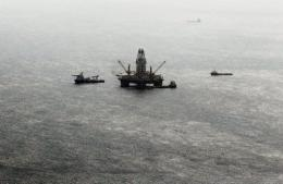 A drill rig working on a relief well is returning to the site of the BP oil spill after a storm system weakened