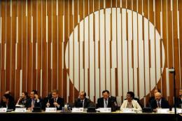 A general view of the opening of an informal ministerial meeting ahead of the UNFCCC