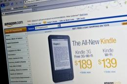 Amazon will make its Kindle electronic books available for reading on Web browsers beginning early next year